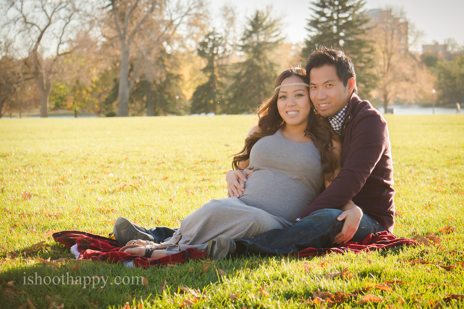 Expecting couple, maternity family portrait