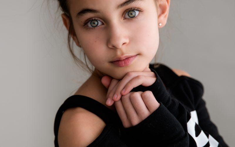 Kids fashion photo shoot with Julia